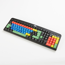TTS Multi-coloured Lowercase Keyboard  medium